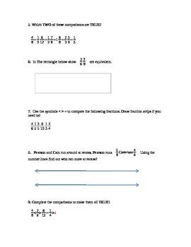 Fractions Homework/Review Worksheet