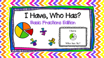 "Fractions: ""I Have, Who Has"""