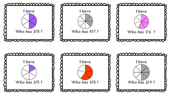 """Fractions: """"I Have, Who Has"""""""
