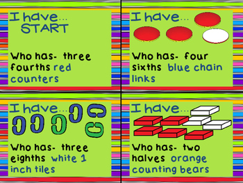 Fractions I Have Who Has
