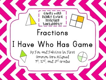 Fractions I Have Who Has Game