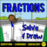 3rd Grade Fractions Color by Answer Activity