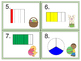 Fractions:  Identify Fractional Parts of Shapes:  Easter Theme Task Cards