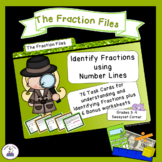 Identify Fractions on a Number Line Task Cards