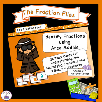 Identify Fractions with Area Models Task Cards
