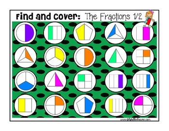Fractions:  Identifying Fractions Find and Cover Activities