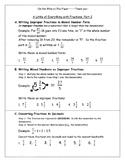 Fractions: Improper->Mixed, Fraction-> Decimal, & Decimal->Percent & Vice Versa