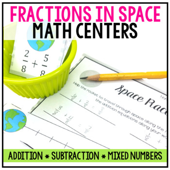 5th Grade Adding and Subtracting Fractions Centers