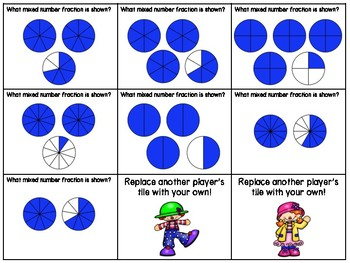 Fractions Independent Center Game #3