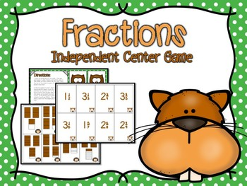 Fractions Independent Center Game #4