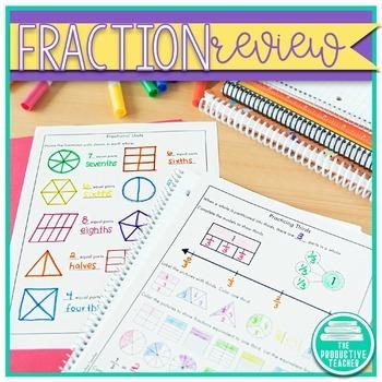 Fractions: Independent Practice Book