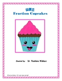 Fractions 2nd Grade:  Fraction Cupcakes Worksheets - Task Cards - Board Game
