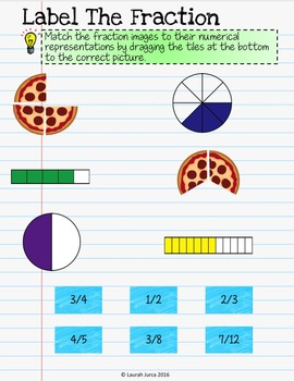 Fractions Interactive Digital Notebook for Google Drive