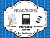 Fractions - Interactive Journal, Notes and Activities