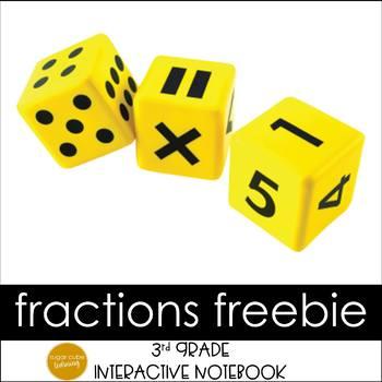 Fractions Interactive Notebook Grade 3 Sampler