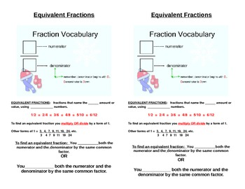 Fractions- Interactive Notes and practice