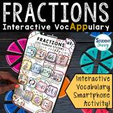Fractions Activity   Interactive VocAPPulary™ - Math Vocab