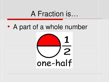 Fractions Introduction PPT 4.NF.A.1 3.NF.A.3b