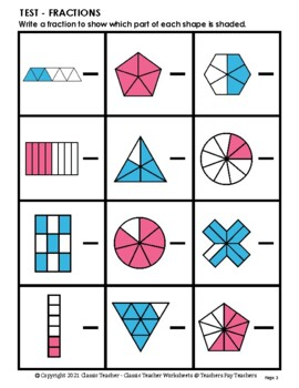 Fractions - Introduction to Fractions - Set #1 - Grades 2-4 (2nd-4th Grade)