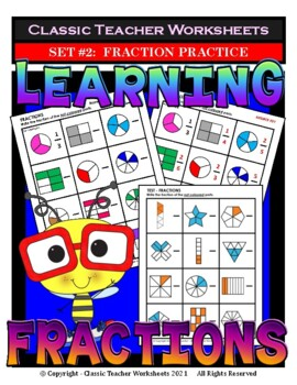 Fractions - Introduction to Fractions - Set #2- Grades 2-4