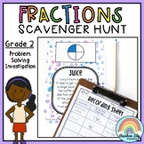 Fractions Problem Solving Investigation - Scavenger Hunt - Grade 2