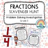 Fractions Investigation - Scavenger Hunt - Grade 3