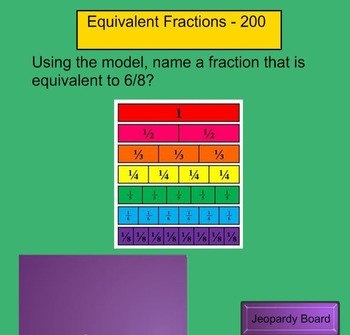 Fractions Jeopardy 3rd Grade Review