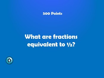 Fractions Jeopardy 4th, 5th