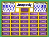 Fractions Jeopardy 4th Grade Review