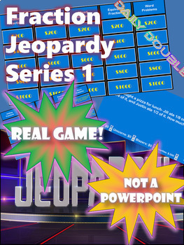 Fractions Jeopardy -- Equivalent, Mixed Numbers, Adding and Subtracting