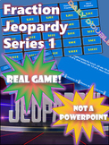 Fractions Jeopardy -- Equivalent, Mixed Numbers, Adding an