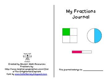 Fractions Journal {Halves & Fourths}