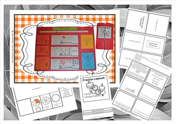 Fractions Lapbook Parts and Wholes Galore