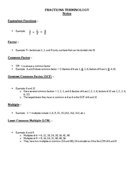 Fractions Lesson Unit - Addition & Subtraction with Unlike Denominators