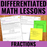 Fractions Lessons for Guided Math - Differentiated