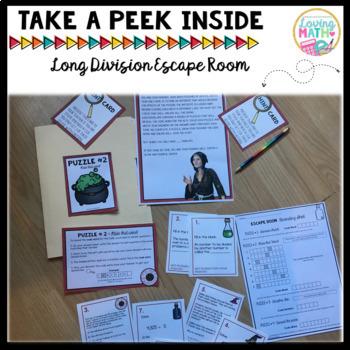 Fractions, Long Division, Multiplication, Place Value Escape Room BUNDLE