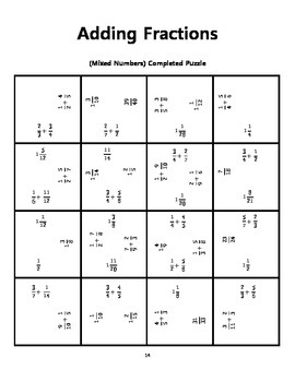 Fractions MEGA Pack - Square Puzzles!