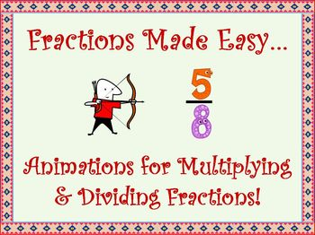 Fractions Made Easy!  Animations for Multiplying & Dividing Fractions