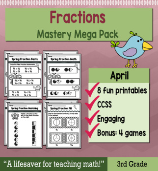 "Fractions ""Mastery Pack"" for April"