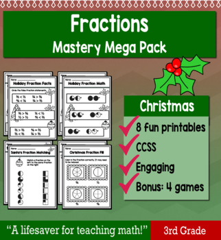 "Fractions ""Mastery Pack"" for December"