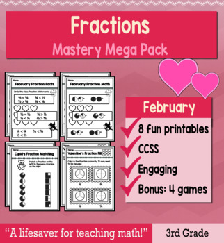 "Fractions ""Mastery Pack"" for February"