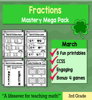 "Fractions ""Mastery Pack"" for March"