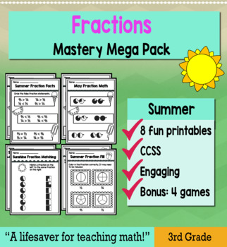 "Fractions ""Mastery Pack"" for May"
