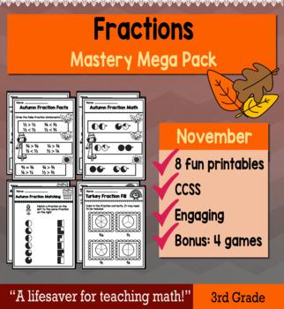 """Fractions """"Mastery Pack"""" for November"""