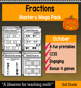"Fractions ""Mastery Pack"" for October"