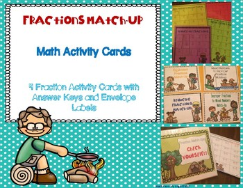 Fractions Match-Up Math Activity Cards