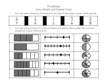 Fractions Match for Interactive Math Notebook