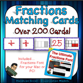 Comparing Fractions and Decimals Matching Cards