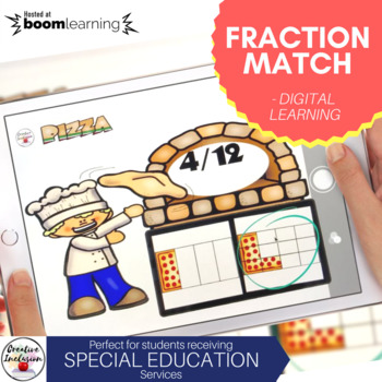 Fractions Matching for Special Education- Digital Learning
