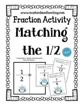 Fractions: Matching the Half Activity